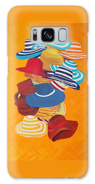 Galaxy Case featuring the painting Hats Off by Deborah Boyd