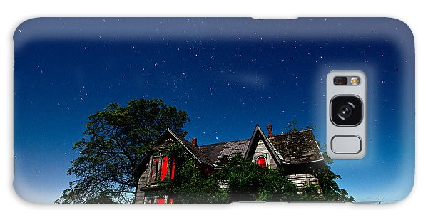 Galaxy Case - Haunted Farmhouse At Night by Cale Best