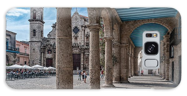 Havana Cathedral And Porches. Cuba Galaxy Case
