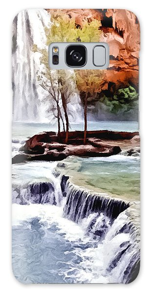 Havasau Falls Painting Galaxy Case