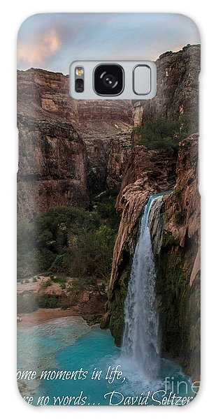 Havasu Falls With Quote Galaxy Case
