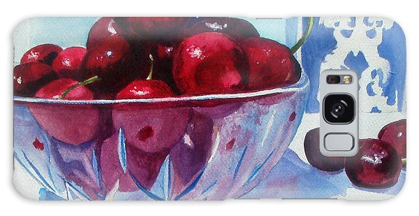 Have A Bing Cherry Go Ahead Try Em Galaxy Case by Susan Duda
