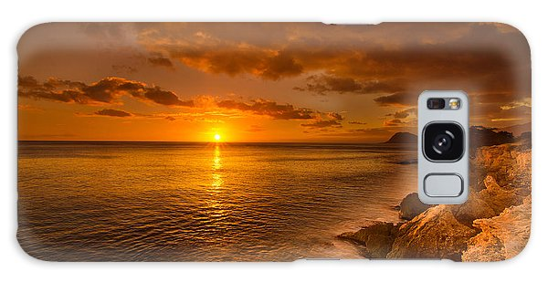 Hawaii Golden Sunset Galaxy Case