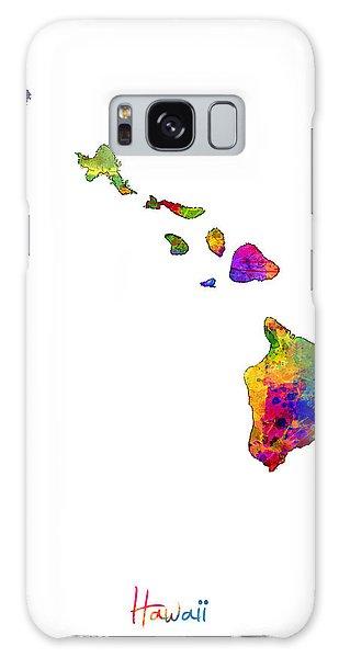 Usa Galaxy Case - Hawaii Map by Michael Tompsett
