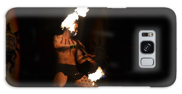 Hawaiian Fire Dancer Galaxy Case
