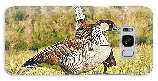 Hawaiian Goose Couple Galaxy Case
