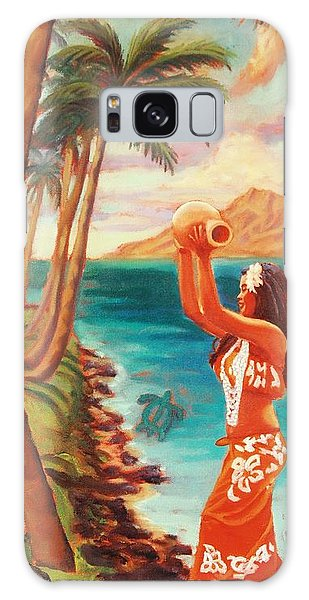 Hawaiian Hula Wahine Galaxy Case by Janet McDonald