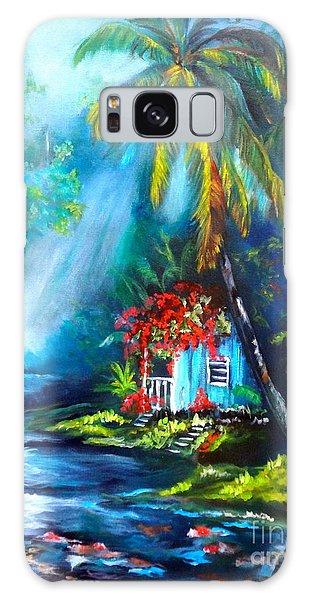 Hawaiian Hut In The Mist Galaxy Case