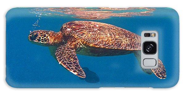 Hawaiian Sea Turtle In Flight Galaxy Case