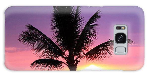 Hawaiian Sunset And Palm Galaxy Case