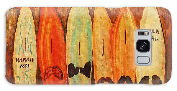 Hawaiian Surfboards Galaxy Case by Janet McDonald