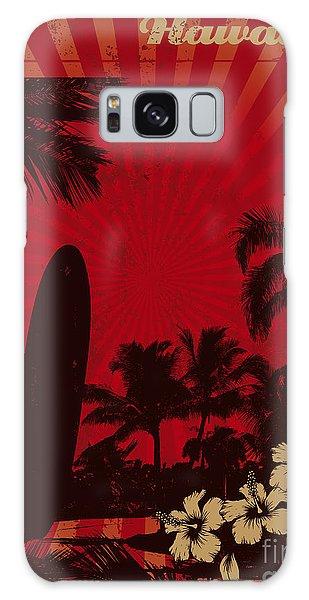 Board Galaxy Case - Hawaiian Vintage Surf Poster by Locote