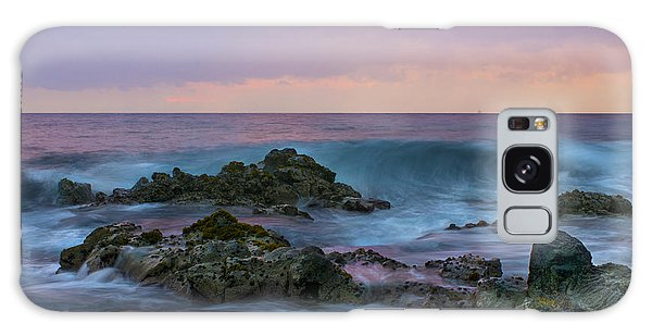 Hawaiian Waves At Sunset Galaxy Case