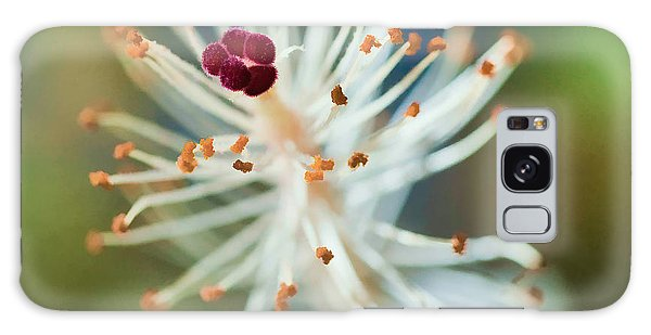 Hawaiian White Hibiscus Galaxy Case