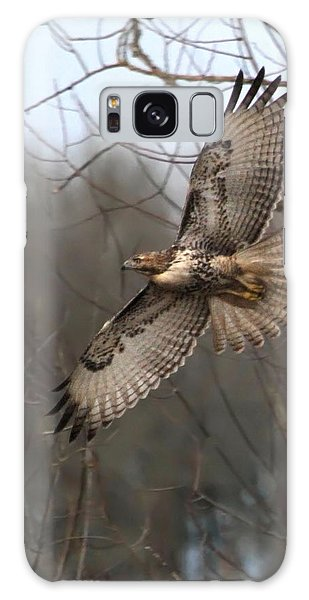 Hawk In Flight Galaxy Case