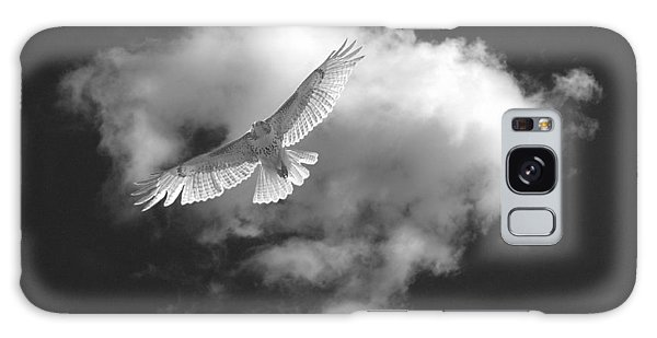 Hawk In Flight - Bw Galaxy Case
