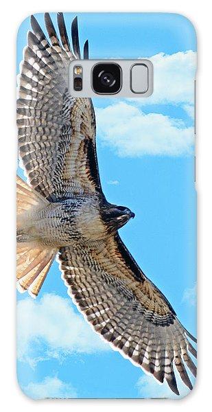 Hawk Overhead Galaxy Case by Stephen  Johnson