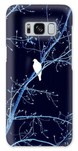 Hawk Silhouette On Blue Galaxy Case