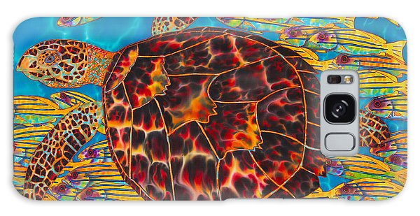 Hawksbill Sea  Turtle And  Snappers Galaxy Case