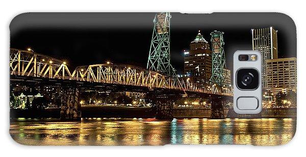 Hawthorne Bridge Over Willamette River Galaxy Case
