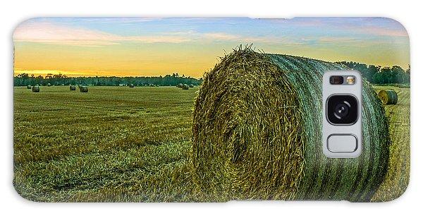 Hay Bales Before Dusk Galaxy Case by Alex Weinstein