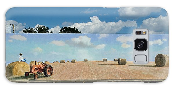 Haybales - The Other Side Of The Tunnel Galaxy Case by Blue Sky