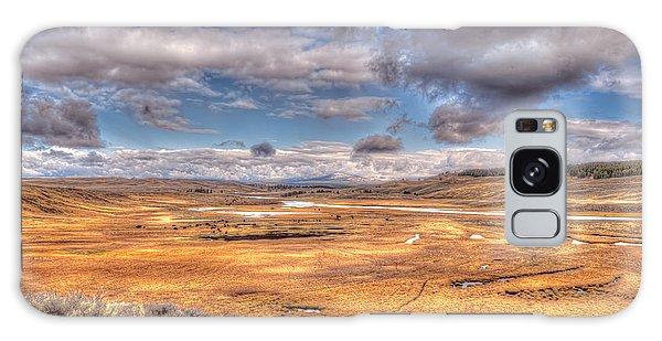 Hayden Valley Bison On Yellowstone River Galaxy Case