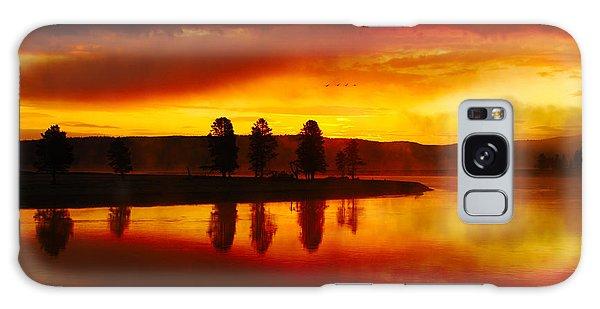 Hayden Valley Sunrise Galaxy Case