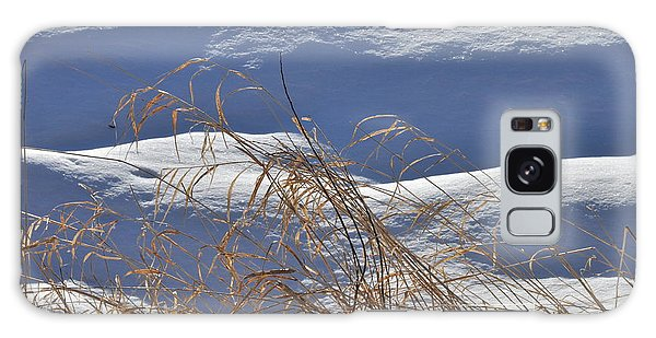 Hayfield In Winter Galaxy Case by Gerald Hiam