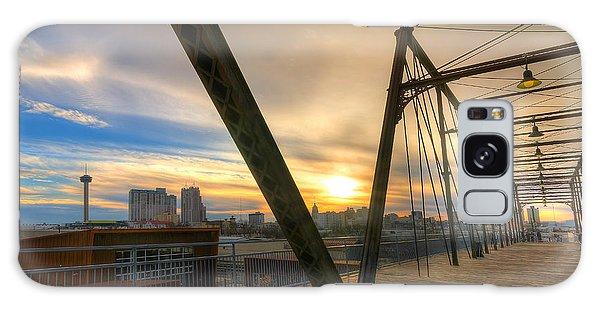 Hays Street Bridge At Sunset Galaxy Case