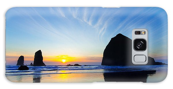 Cannon Galaxy Case - Haystack Rock At Sunset by Patrick Campbell