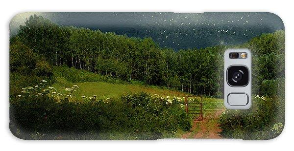 Hazy Moon Meadow Galaxy Case