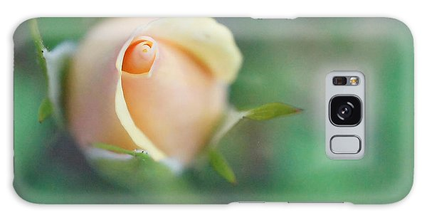Hazy Rosebud Squared Galaxy Case by TK Goforth