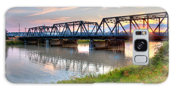Hdr - Sunset On Lincoln Ave. Bridge  Galaxy Case by Rob Green