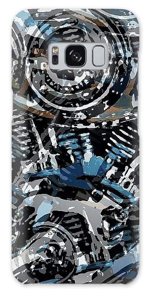 Abstract V-twin Galaxy Case