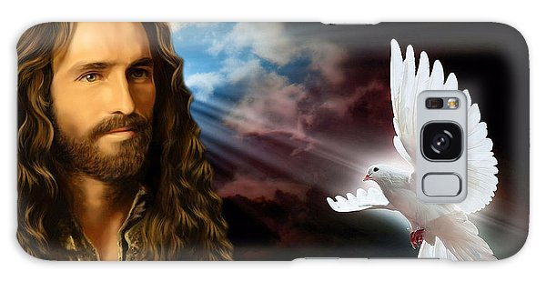 He Cares For Us Galaxy Case by Karen Showell