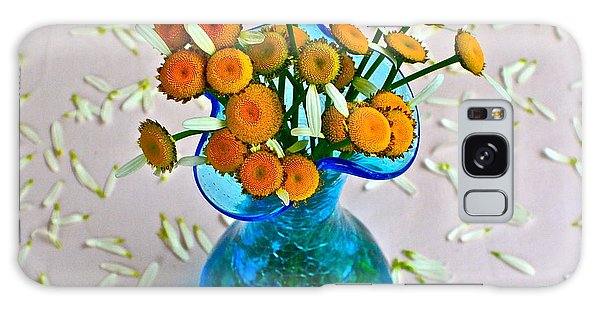 Vase Of Flowers Galaxy Case - He Loves Me Bouquet by Frozen in Time Fine Art Photography