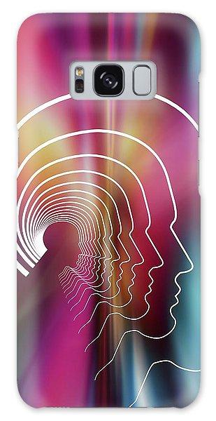 Contour Galaxy Case - Head Contour Lines by Alfred Pasieka