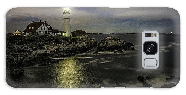 Galaxy Case featuring the photograph Head Light By Night by Donald Brown
