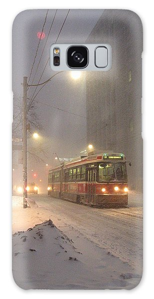 Heading Home In The Snowstorm Galaxy Case by Alfred Ng