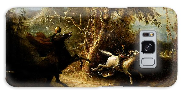 Headless Horseman Pursuing Ichabod Crane Galaxy Case