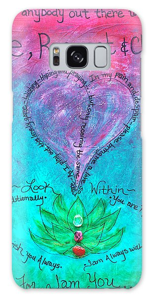 Healing Art - Love Respect And Cherish Me? Galaxy Case by Absinthe Art By Michelle LeAnn Scott