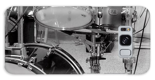 Hear The Music - A Drum Set Up For Recording Galaxy Case by Ron Grafe
