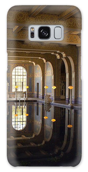 Hearst Castle Roman Pool Reflection Galaxy Case by Heidi Smith