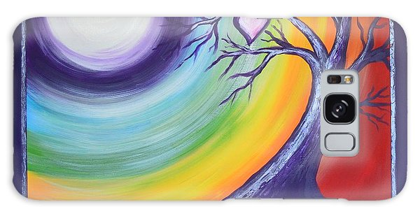 Heart Chakra Meditation Galaxy Case by Agata Lindquist