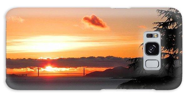 Heart Cloud Over Golden Gate Bridge Galaxy Case