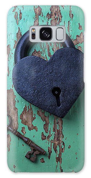Heart Galaxy Case - Heart Lock And Key by Garry Gay