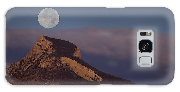 Heart Mountain And Full Moon-signed-#0325 Galaxy Case