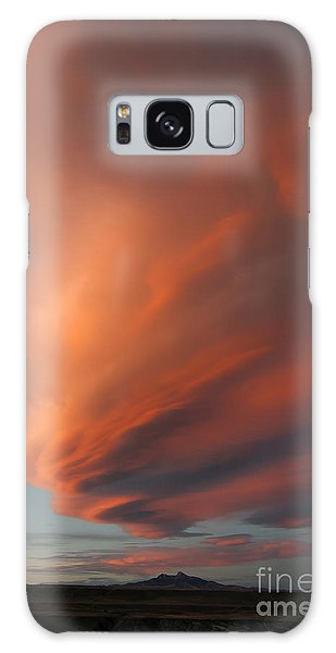 Heart Mountain Cirrus Sunset-signed Galaxy Case