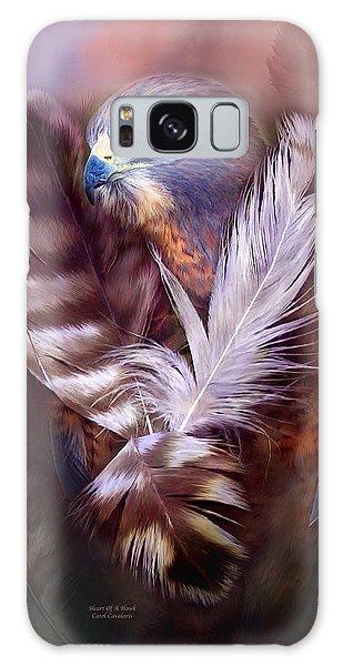 Heart Of A Hawk Galaxy Case by Carol Cavalaris